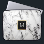 "monogram on marble computer sleeve<br><div class=""desc"">monogram on marble</div>"