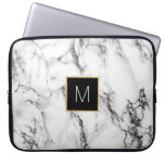 monogram on marble computer sleeve<br><div class='desc'>monogram on marble</div>