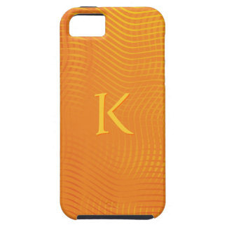 Monogram on Orange Abstract Background iPhone 5 Cover