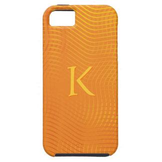 Monogram on Orange Abstract Background iPhone SE/5/5s Case