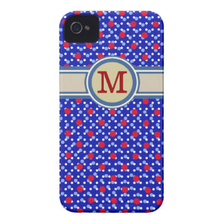monogram on small polka dots iPhone 4 case