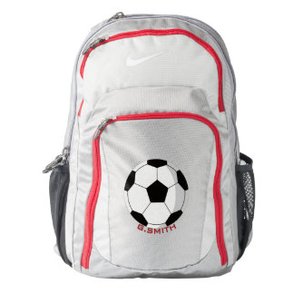 Monogram on Soccer Ball. Your Official Nike Backpack