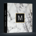 "monogram on  white marble stone binder<br><div class=""desc"">elegant marble look binder</div>"