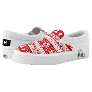 Monogram: One Ugly Red Christmas. Slip-On Sneakers