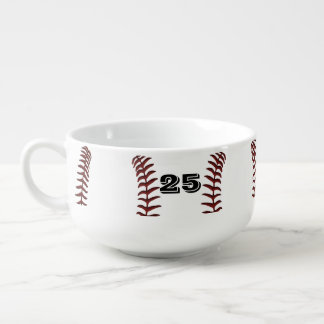 Monogram or Number Large Soup Mugs with Handles