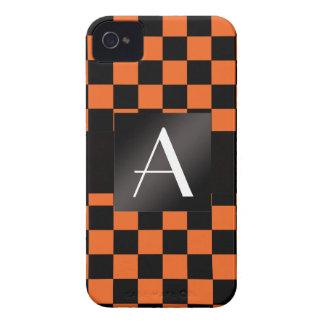 Monogram orange and black checkers blackberry cases