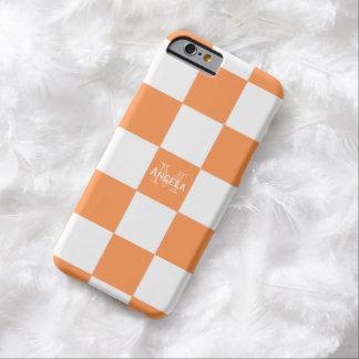 Monogram Orange And White Checkered Case