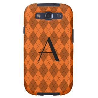 Monogram orange argyle samsung galaxy SIII case