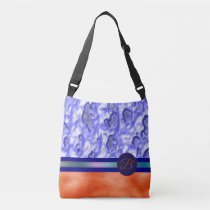 Monogram Orange Blue Everyday Carry TOTE BAG