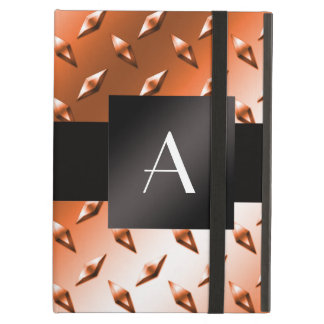Monogram Orange diamond steel plate pattern iPad Air Cover