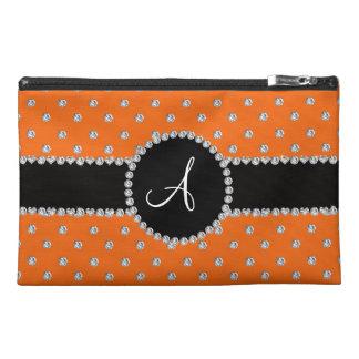Monogram orange diamonds polka dots travel accessory bags