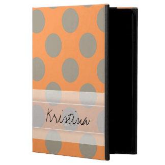 Monogram Orange Gray Chic Cute Polka Dot Pattern Powis iPad Air 2 Case