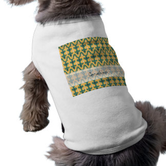 Monogram Orange Green Geo Ikat Decorative Pattern Shirt