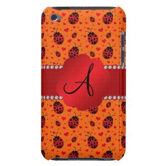 Monogram orange ladybugs hearts iPod Case-Mate case