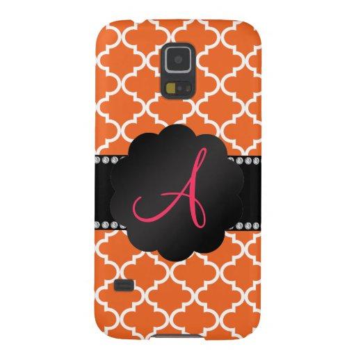 Monogram Orange moroccan Samsung Galaxy Nexus Covers