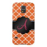 Monogram Orange moroccan Galaxy S5 Covers