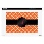 "Monogram Orange moroccan Skin For 15"" Laptop"