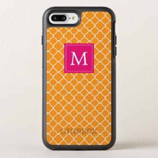 Monogram | Orange Trefoil OtterBox Symmetry iPhone 8 Plus/7 Plus Case