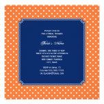 Monogram Orange, White Polka Dot with Royal Blue Custom Announcements