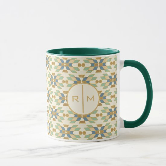 Monogram | Outdoor Geo Step | Tribal Pattern Mug
