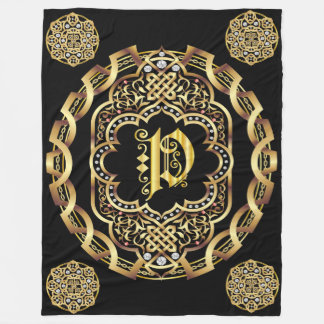 Monogram P CUSTOMIZE To Change Background Color Fleece Blanket