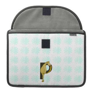 Monogram P Flexible Foal Personalised MacBook Pro Sleeve