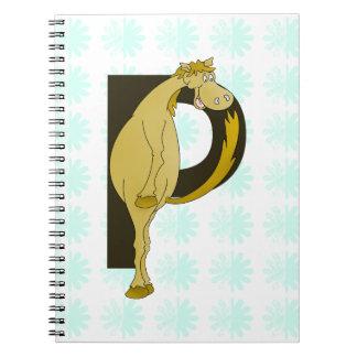 Monogram P Flexible Foal Personalised Notebooks