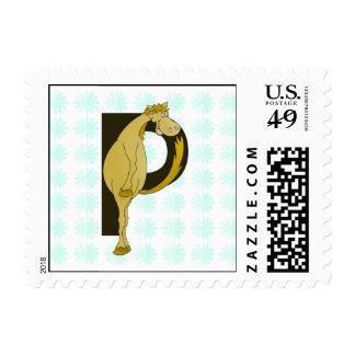 Monogram P Flexible Foal Personalised Postage