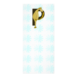 Monogram P Flexible Foal Personalised Rack Card