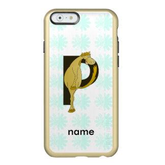 Monogram P Flexible Horse Personalised Incipio Feather Shine iPhone 6 Case