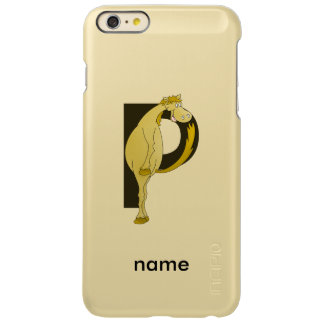 Monogram P Flexible Horse Personalised Incipio Feather Shine iPhone 6 Plus Case