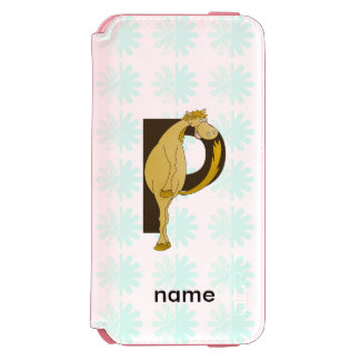 Monogram P Flexible Horse Personalised iPhone 6/6s Wallet Case