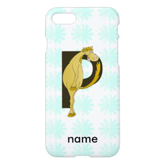 Monogram P Flexible Horse Personalised iPhone 8/7 Case