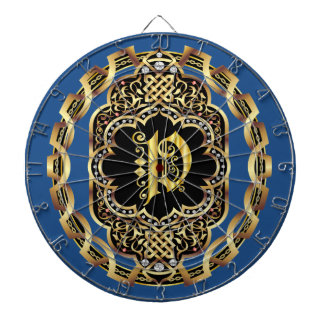 Monogram P IMPORTANT Read About Design Dartboard With Darts