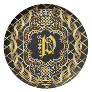 Monogram P IMPORTANT Read About Design Dinner Plate