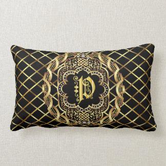 Monogram P IMPORTANT Read About Design Lumbar Pillow