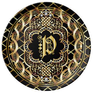 Monogram P IMPORTANT Read About Design Plate