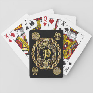 Monogram P IMPORTANT Read About Design Playing Cards