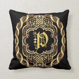 Monogram P IMPORTANT Read About Design Throw Pillow