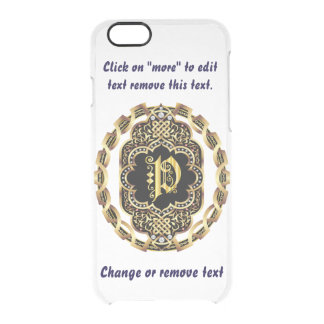 Monogram P iPhone 5/5s & 6-6 plus  Deflector Case Uncommon Clearly™ Deflector iPhone 6 Case