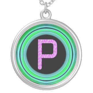 "Monogram ""P"" Necklaces"