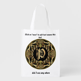 Monogram P Shopping Bag
