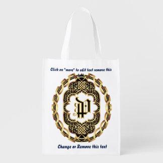 Monogram P Shopping Bag Reusable