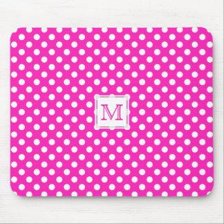 Monogram: P & W Polka-Dot Mousepad Mouse Pad