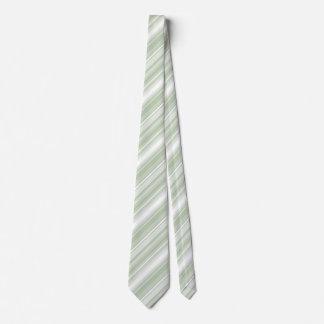 Monogram pale green stripes tie