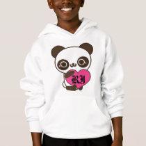 Monogram Panda Heart Hoodie