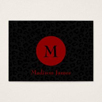 Monogram Panther Print Business Card