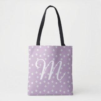 Monogram Parisian Floral Tote Bag