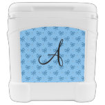 Monogram pastel blue diamonds and bows rolling cooler