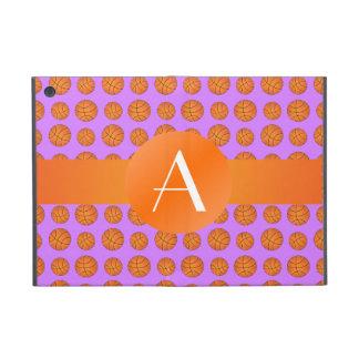 Monogram pastel purple basketballs cases for iPad mini